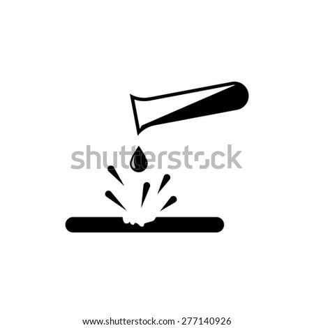 danger corrosive materials symbol icon - stock vector