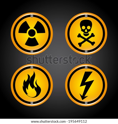 Danger design over black background, vector illustration - stock vector