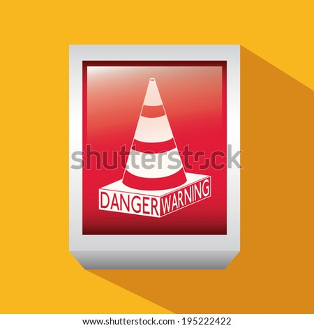 Danger design over yellow background, vector illustration - stock vector