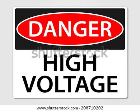 Danger high voltage sign vector illustration - stock vector