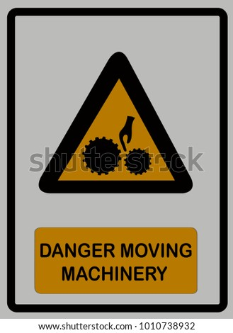 Danger Moving Machinery Symbols Design Safety Stock Vector Royalty