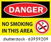 danger no smoking - stock photo
