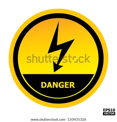 Danger sign.-eps10 vector - stock vector