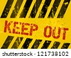 "Danger Sign ""Keep Out"", vector illustration - stock photo"