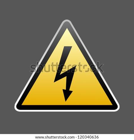 Danger sign vector - stock vector