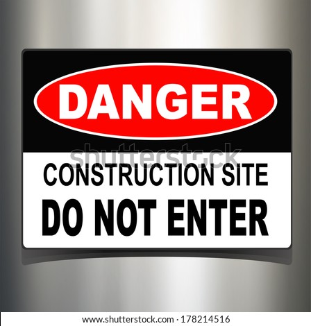 Danger sign, warning technology background - stock vector