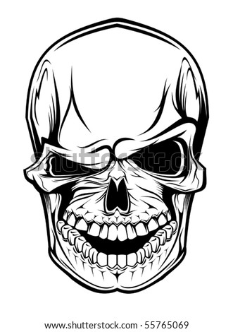 Danger skull as a warning or evil concept - also as emblem. Jpeg version also available in gallery - stock vector