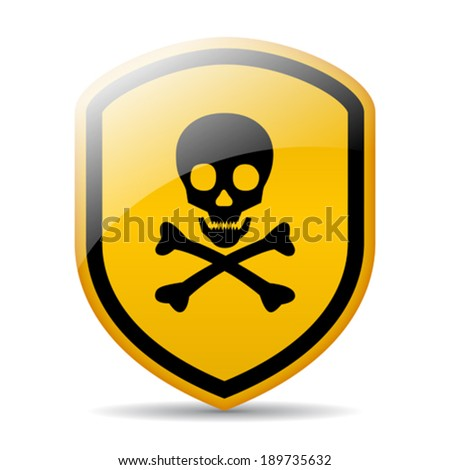 Danger skull sign - stock vector