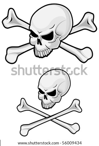 Danger skull with crossbones. Jpeg version also available in gallery