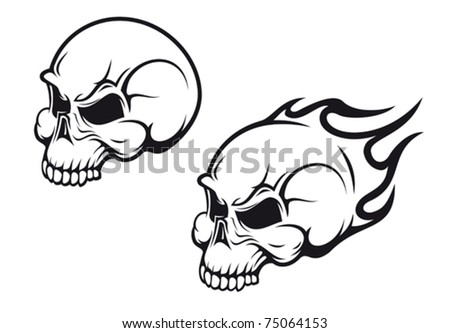 Danger skulls as a tattoo or evil concept. Jpeg version also available in gallery - stock vector