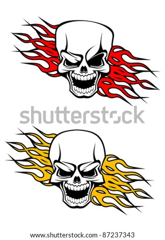 Danger skulls as a tattoo or evil concept. Rasterized version also available in gallery - stock vector