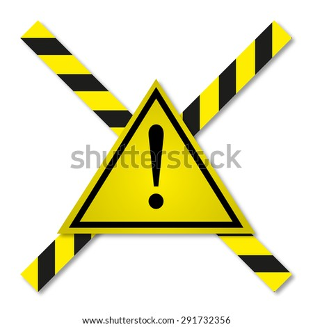 Danger tapes in yellow-black line - stock vector