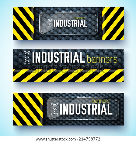 danger tech abstract banners. Vector illustration design concept - stock vector