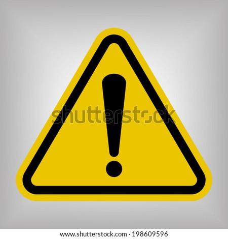 Danger Warning Sign - stock vector