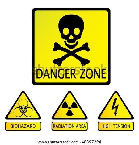 danger zone - stock vector