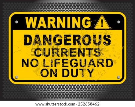 Dangerous currents - stock vector