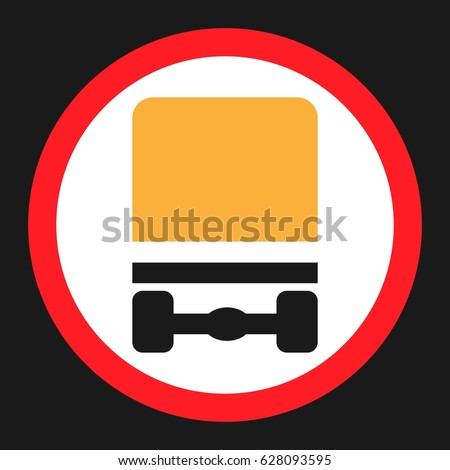 Dangerous Goods Transport Prohibition Sign Flat Stock Vector