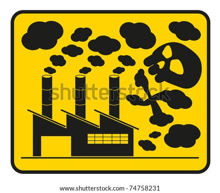 dangerous pollution - stock vector