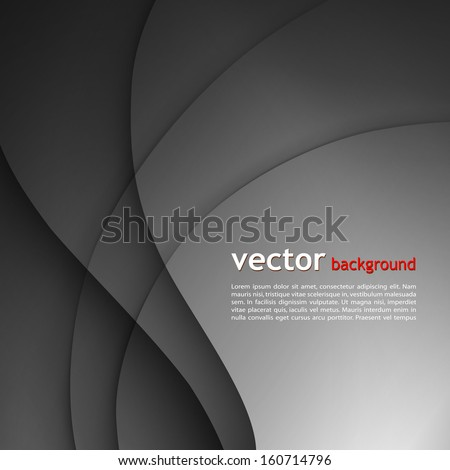 Dark abstract background - stock vector