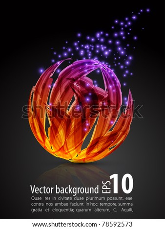 dark abstract background. color sphere.