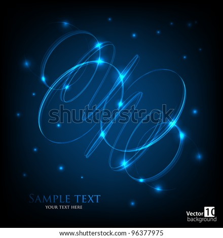 Dark abstract background with glowing lights. Vector - stock vector