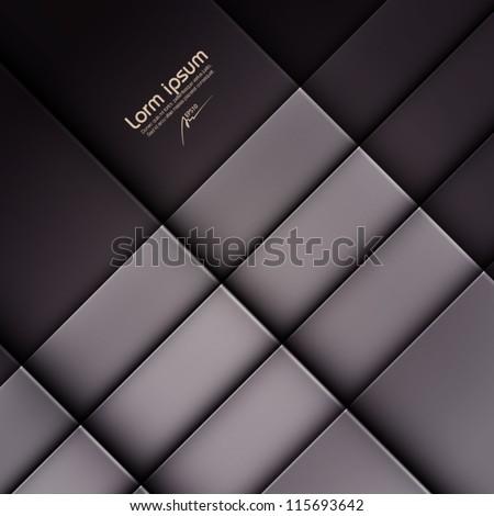 dark abstract vector background, web design element, vintage art banner, geometric illustration - stock vector