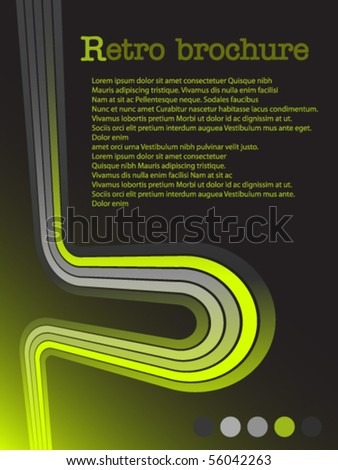 Dark background with color lines - stock vector