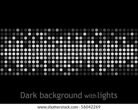 Dark background with lights - stock vector