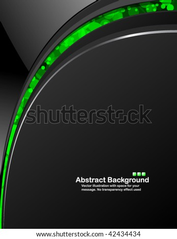 Dark background with random transparent circles. Vector illustration in RGB colors. - stock vector