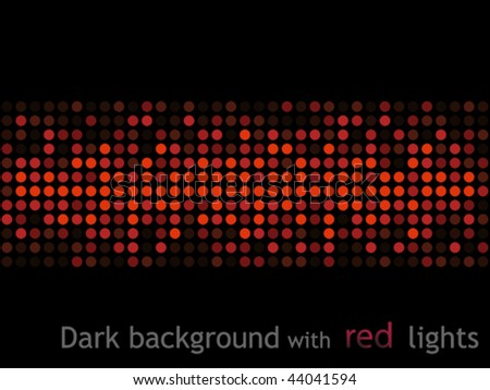 Dark background with red lights - stock vector
