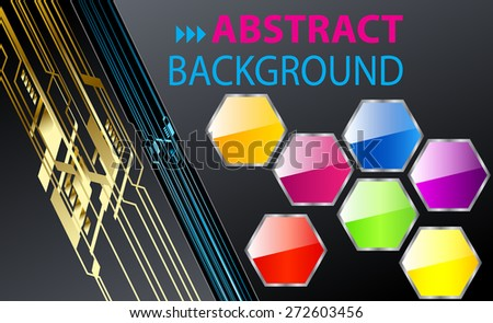 dark black color Light Abstract Technology background computer graphic website internet and business. circuit. vector illustration. text box. Brochure. card. banner flyer magazine. Design label. - stock vector