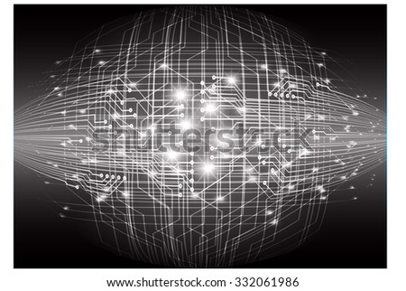 dark black color Light Abstract Technology background for computer graphic website internet. circuit. illustration. infographics. binary code background. www.vector.Spark.zero one. Global. pixel - stock vector