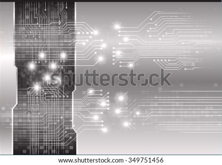 dark black color Light Abstract Technology background for computer graphic website internet and business. circuit. illustration. digital. infographics. binary code. www. vector.one. zero.pixel eye - stock vector
