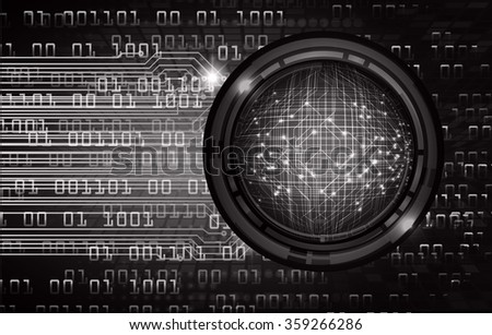 Dark black color Light Abstract Technology background for computer graphic website internet and business. circuit. vector illustration. infographics. motion move blur.neon. pixel. eye. scan virus
