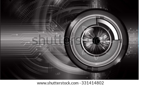 Dark black Light Abstract Technology background for computer graphic website internet business. circuit. vector illustration. infographics. motion move blur.neon. pixel. eye