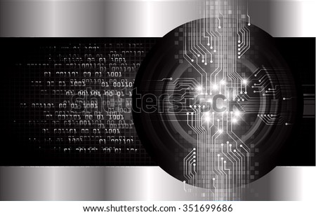 Dark black silver Light Abstract Technology background for computer graphic website internet and business. circuit. vector illustration. infographics. motion move blur.neon. pixel. eye - stock vector