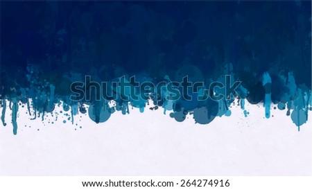 Dark blue brush strokes border. Vector version - stock vector