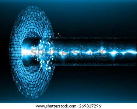 dark blue color Light Abstract Technology background for computer graphic website internet and business. circuit. vector illustration. abstract digital sound wave background. - stock vector