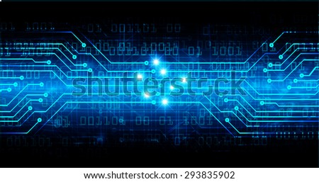 dark blue color Light Abstract Technology background for computer graphic website internet and business. circuit. illustration. digital. infographics. binary code background. www. vector.one. zero.eye - stock vector