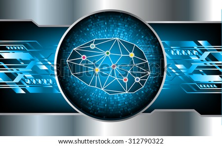 dark blue color Light Abstract Technology background for computer graphic website internet and business. circuit. vector illustration. infographics. motion move blur.neon. silver. Brainstorm, Brain - stock vector