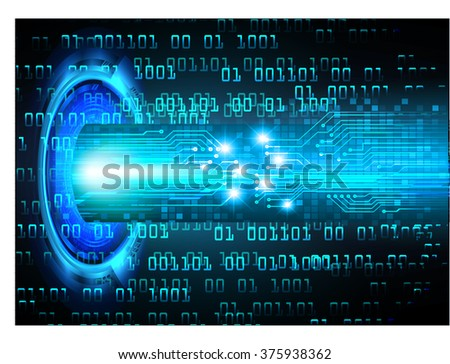 Dark blue color Light Abstract Technology background for computer graphic website internet and business. circuit. vector illustration. infographics. motion move blur.neon. pixel. eye scan virus