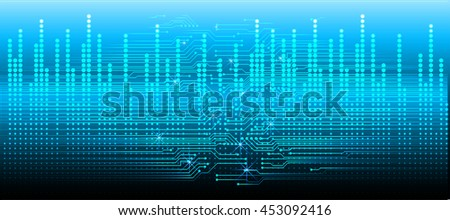 dark blue color Light Abstract Technology background for computer graphic website internet and business. circuit. illustration. digital. infographics. binary code background. eye. Global