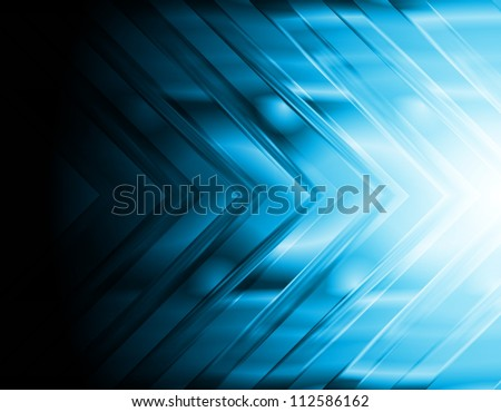 Dark blue hi-tech background. Bright arrow. Eps 10 vector illustration - stock vector