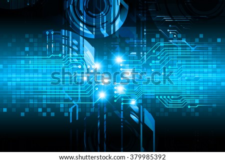 dark blue illustration of technology internet network computer background with binary number, style background. - stock vector