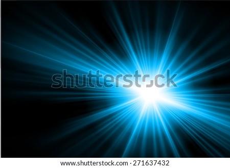 dark blue Light Abstract background. black - stock vector