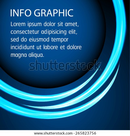Dark blue Light Abstract Technology background for computer graphic website internet and business. text box. Brochure. card. banner. - stock vector
