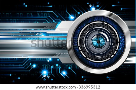 dark blue Light Abstract Technology background for computer graphic website internet and business. circuit. illustration.digital.infographics. binary code. zero one. vector.eye - stock vector