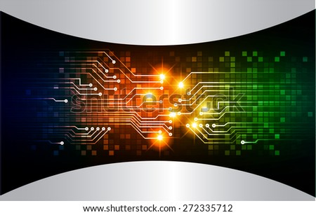 dark blue orange green color Light Abstract Technology background for computer graphic website internet and business. circuit. vector illustration. abstract digital . silver. - stock vector