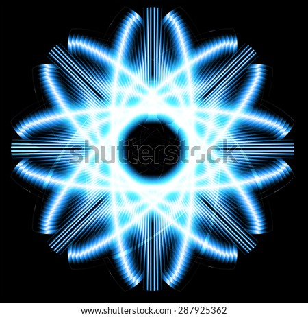 Dark blue Shining atom scheme. Vector illustration. dark background. digital. infographics. Abstract Technology background for computer graphic website internet and business. circuit. - stock vector