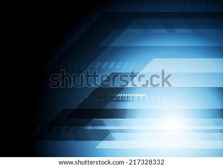 Dark blue technology background. Vector design - stock vector